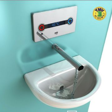 Rada ACU-T3 DMV washbasin tap kit with 225mm Spout. Electronic 1.1664.002